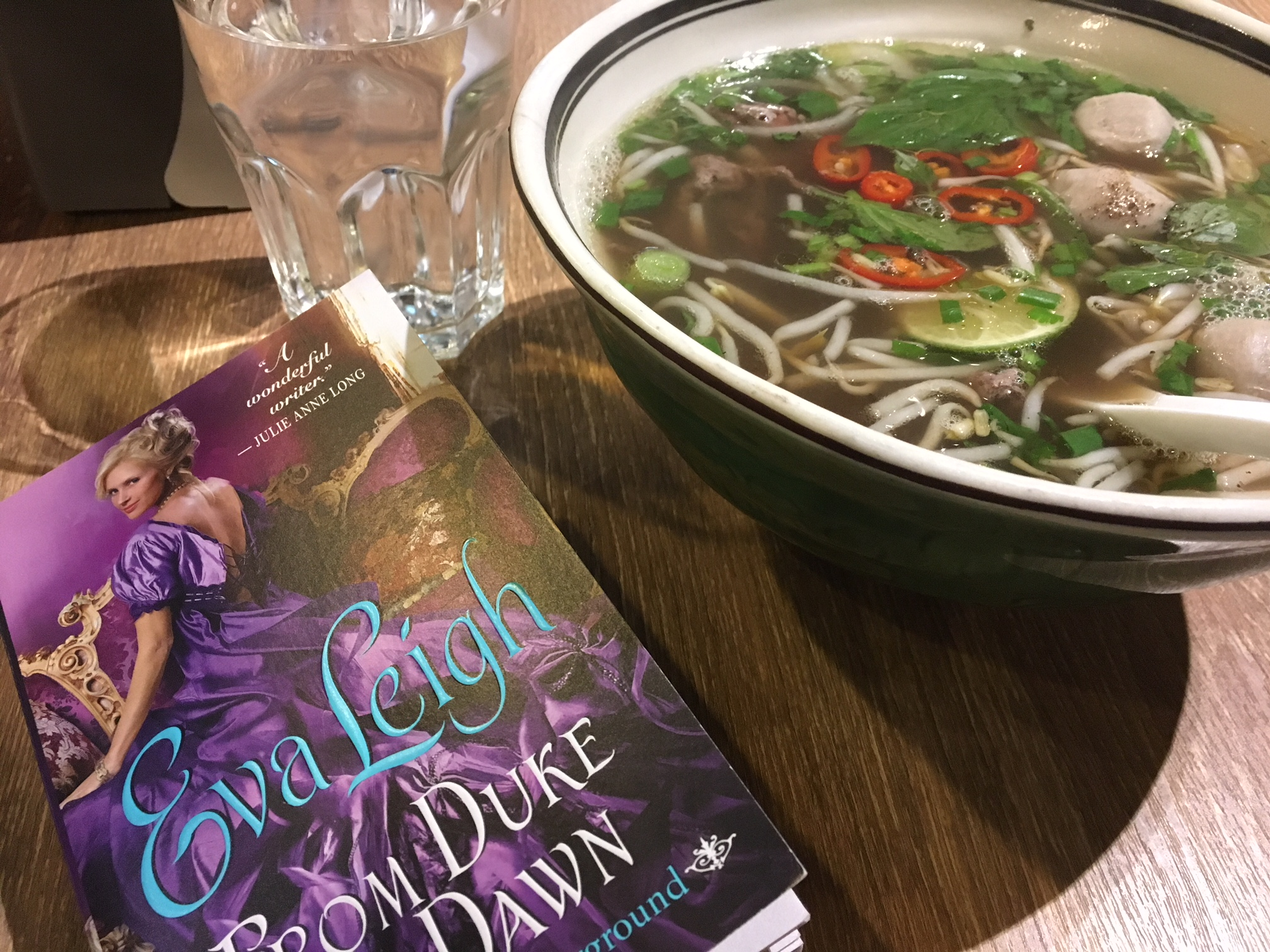 Nothing more delicious than herby pho with a yummy romance read.