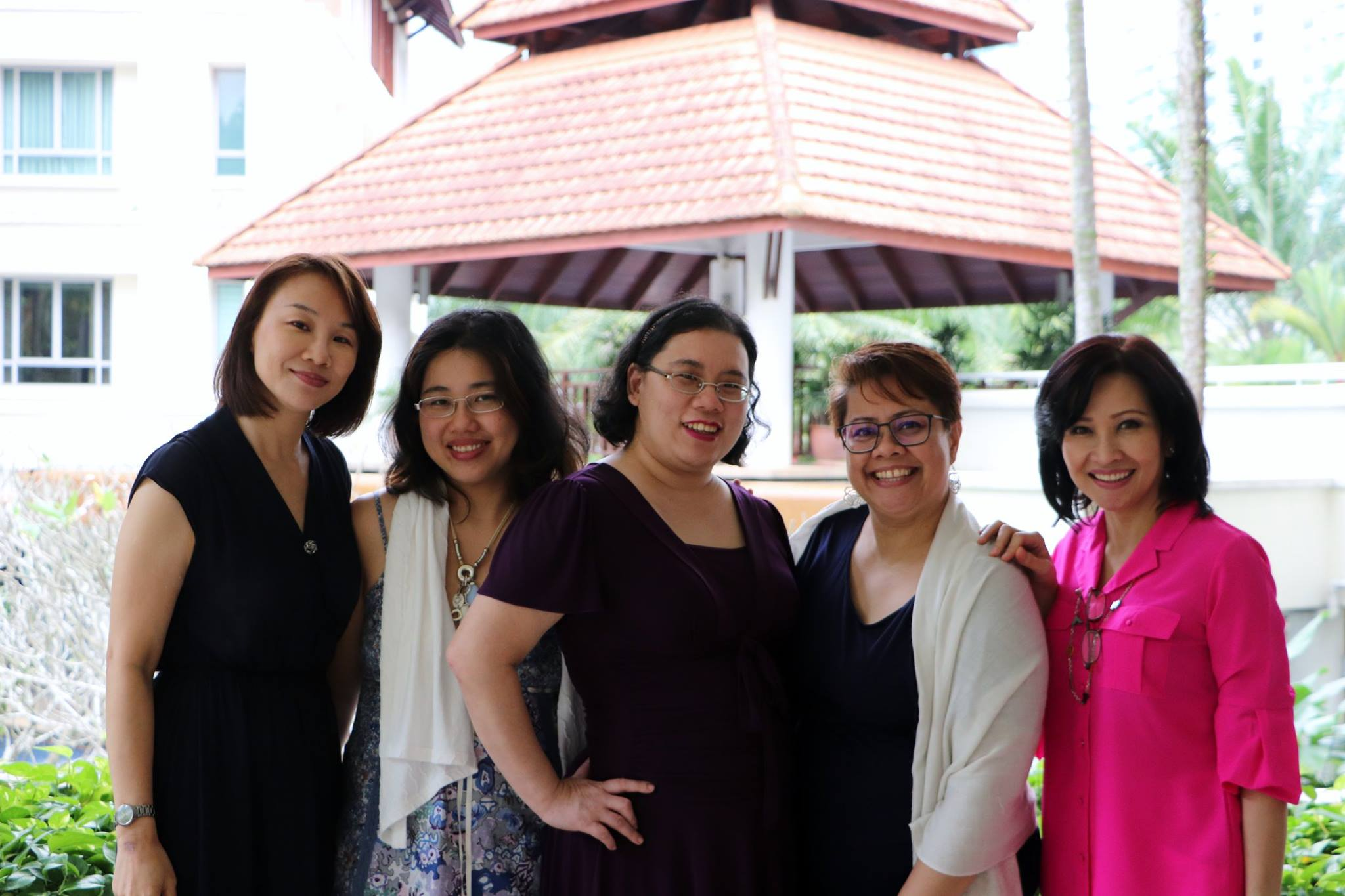 Book friends:  (From left) Diana, me,  Irene ,  Tina Isaacs  and Murni, at a KLBAC-organised event -  Exploring the Romance genre - a forum . Irene, Tina and I spoke of our love for the genre while Murni opened her condo to us as a venue. Diana, of course, was the emcee/chair of the forum. We had so much fun! And there was so much fooood. -- Photo taken by Alicia Cheah