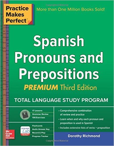 spanish pronouns and prepositions books