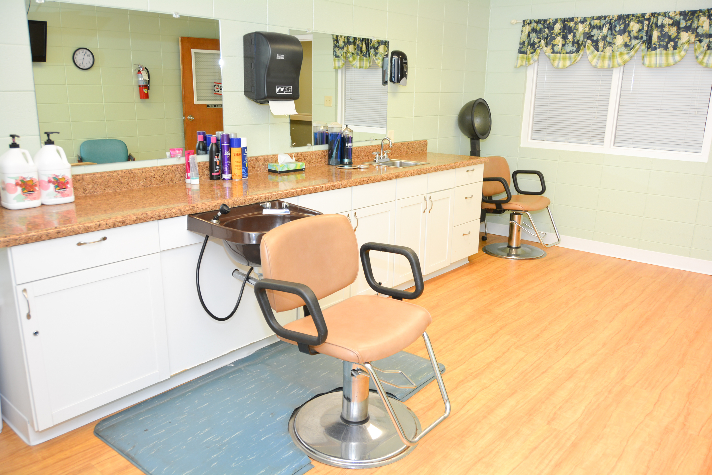 This is our in-house beauty shop.