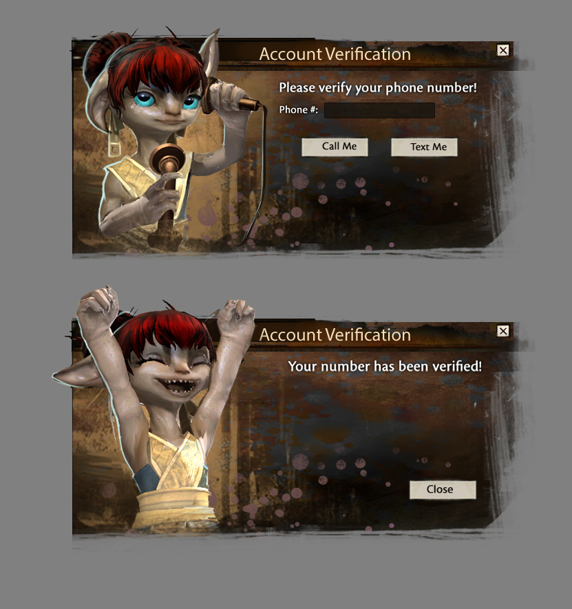 Quick Mockup of Account Verification Idea