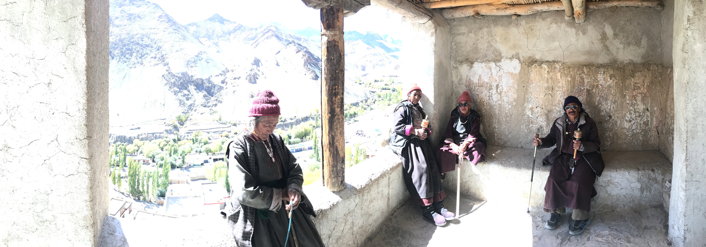 At Lamayuru Monastery which is one of the largest and oldest gonpas in Ladakh. Kargil-Leh Road, National Highway - 1