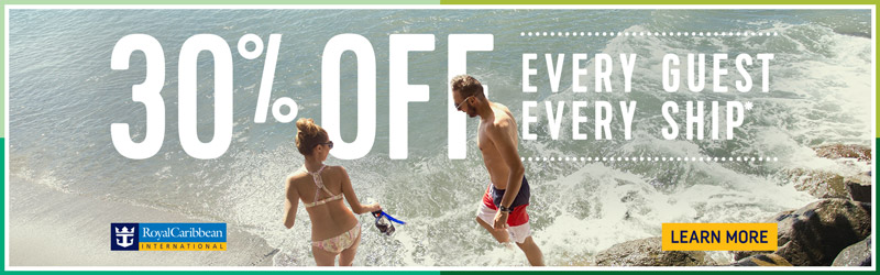 30% Off Royal Caribbean through Enjoy Vacationing