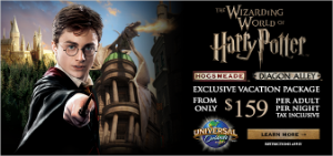 Deals on Harry Potter vacation packages from EnjoyVacationing.com