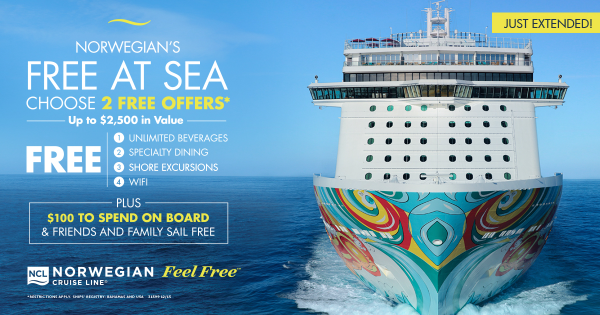 Norwegian Cruise Line and Enjoy Vacationing are offering several deals to clients including free at sea and free gratuities!