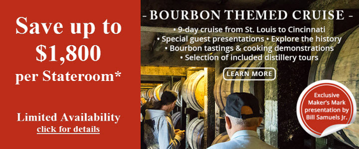 Save on Bourbon themed paddle wheel cruise!