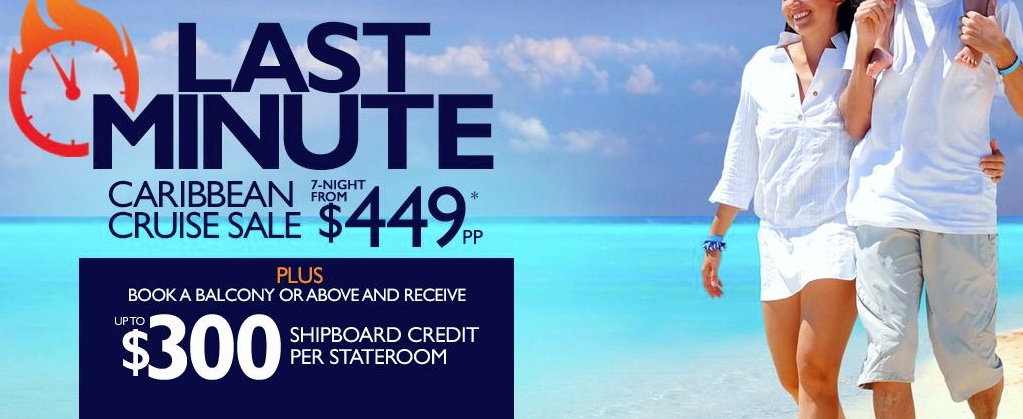 Last minute caribbean cruises from $449 per person! Contact Enjoy Vacationing today!