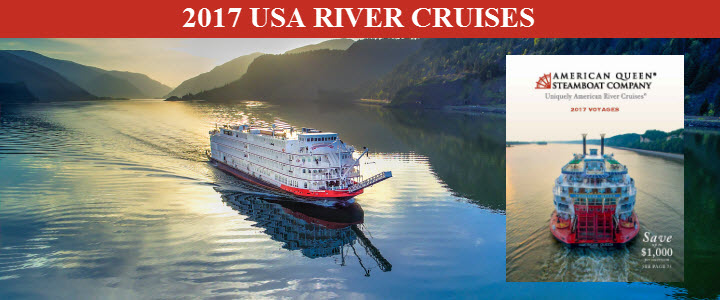 Save now on 2017 American Queen River Cruises!