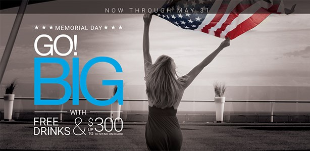 Go Big with Celebrity Cruise lines for Memorial Day
