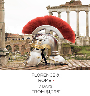 Florence & Rome - 7 Days from $1,296 per person!