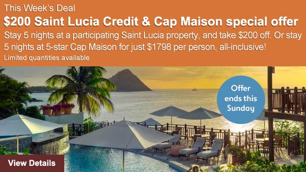 St Lucia Deals on Now through Enjoy Vacationing!