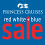 Princess Red White and Blue Sale on now