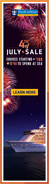 Royal Caribbean July 4th sale - cruises starting at $199 plus spending money!