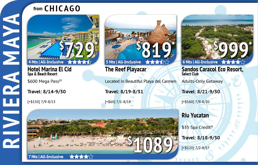 Riviera Maya Current Deals from EnjoyVacationing.com