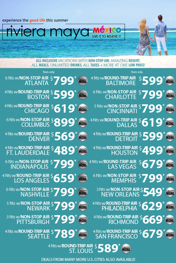 Riviera Maya, Mexico Deals from Enjoy Vacationing