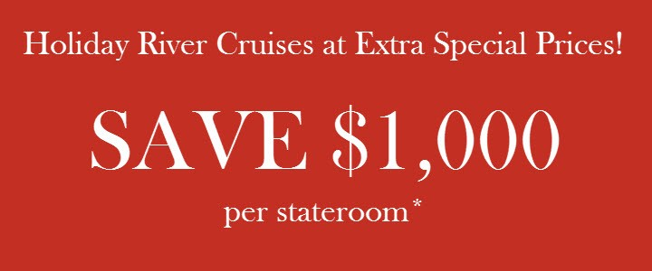 Holiday River Cruises on Sale $1,000 off per stateroom through EnjoyVacationing.com