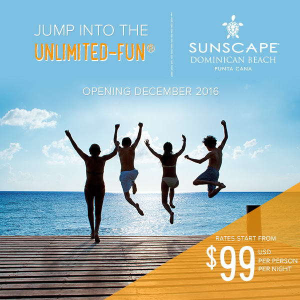 Unlimited Fun at new Sunscape in Punta Cana, Dominican Republic on sale now from EnjoyVacationing.com