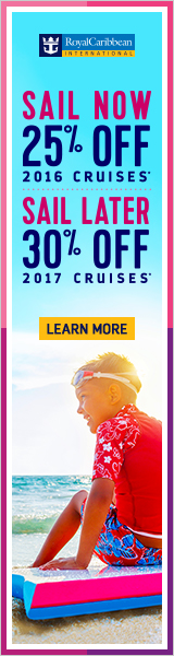 Extended to September 30! Sail now & save 25%, Sail Later save 30%! Contact info@EnjoyVacationing.com for additional information!