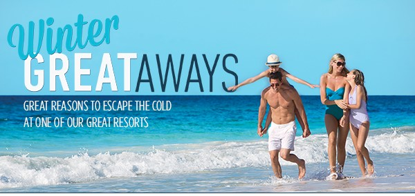Great winter resort getaways at amazing resorts up to 50% off!