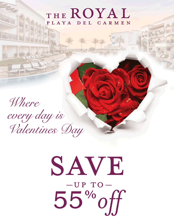 Save up to 55% Where Every Day is Valentines Day