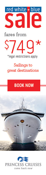 Red White & Blue Sale on Princess cruises with EnjoyVacationing.com