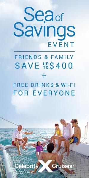 Sea of Savings Event - save up to $400 and free drinks & wifi