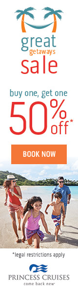 Great Getaways Sale on Now - BOGO 50% off Cruises