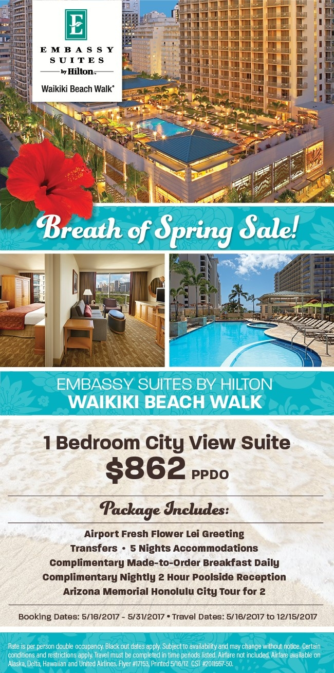 Breath of Spring sale - Hawaii deals on now! Info@enjoyvacationing.com for more!