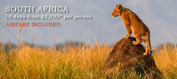 Africa is hot! Contact info@enjoyvacationing.com for deals