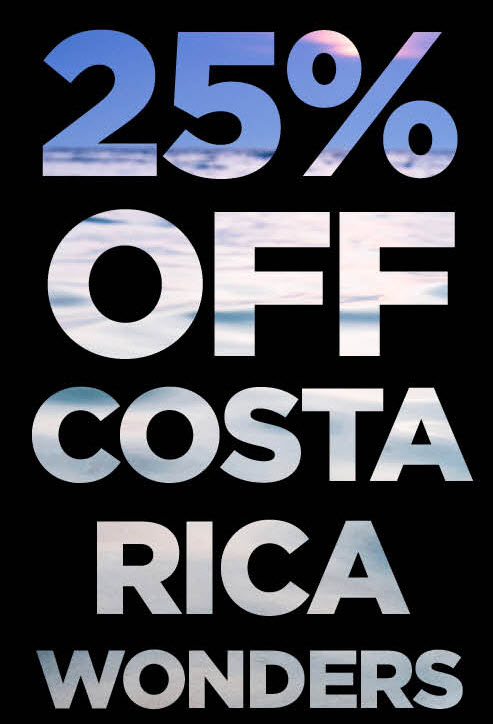 25% off partially escorted tours!
