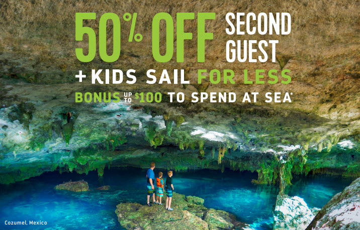 50% off second guest plus more on Royal Caribbean through Enjoy Vacationing!