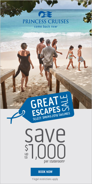Great Escapes Cruise Sale through Spring 2018 on Princess Cruises from Enjoy Vacationing!