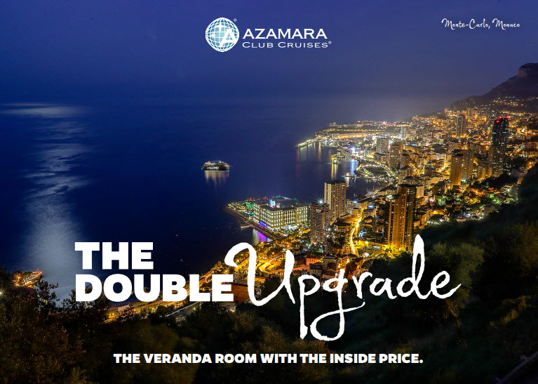 Azamara Double Upgrade ale on Luxury Cruises - EnjoyVacationing.com for more!