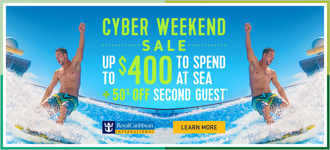 Cyber Weekend Sale on Now with Enjoy Vacationing!