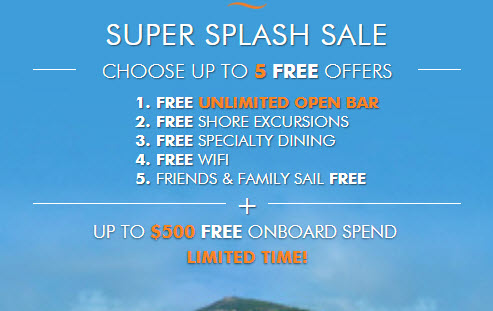 NCL Super Splash Sale
