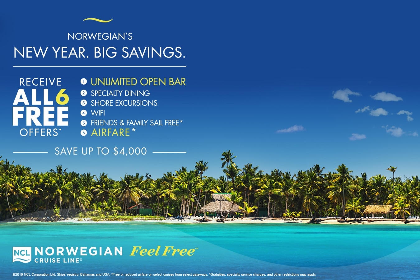 NCL Feel Free Sale from Enjoy Vacationing