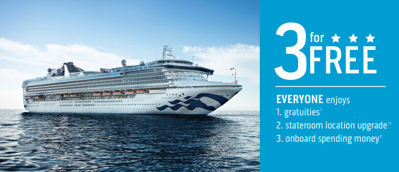 Three for Free Sale with Princes Cruises and Enjoy Vacationing Travel Agency