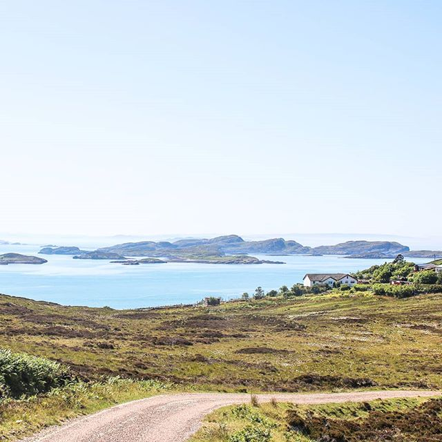 Sunnier times in summery Scotland. I'd just spent a week paddling around the gorgeous Summer Isles in June and took this photo as we left. Also I was quite sunburnt.