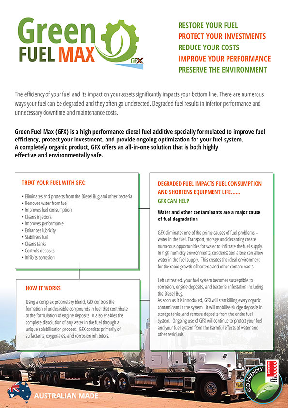 Download our Green Fuel Max Brochure