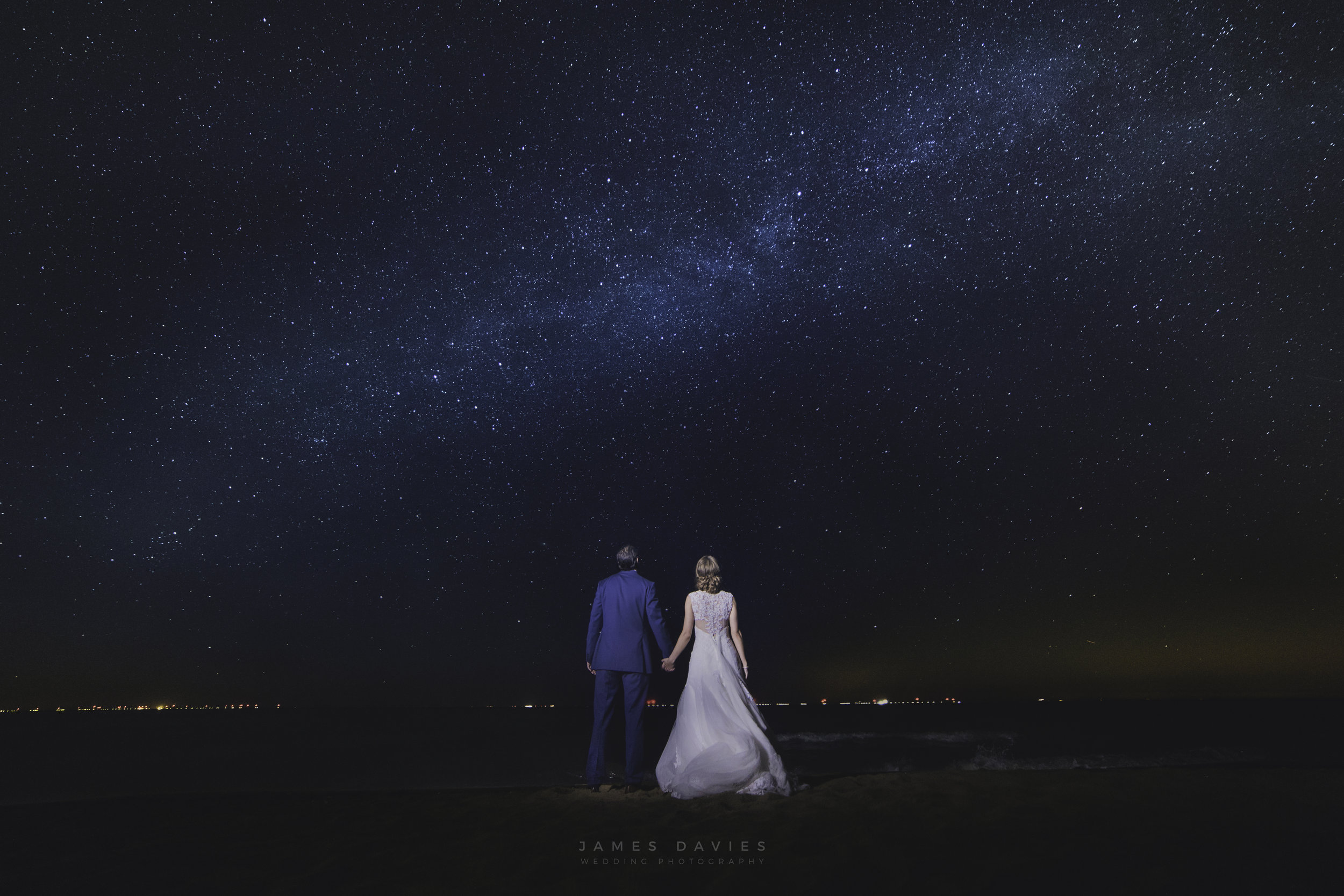 wedding night photography milky way