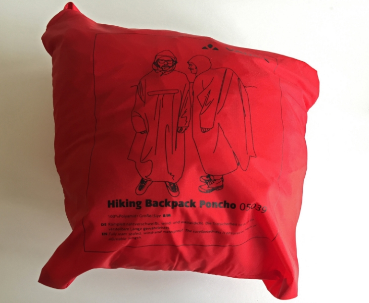 Vaude Hiking Poncho  Polymid  (Packed: Approx. 25x25 x10 cms. Un packed: Vast)