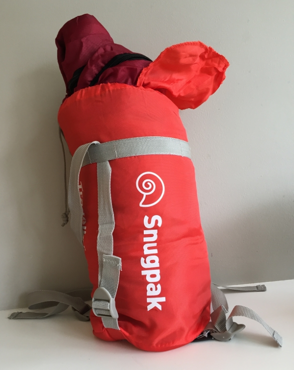 Vessel 8   Snugpak 1 Season    Sleeping bag with integral built-in mosquito net and anti-bacterial treatment.   18cm x 15cm  packed (850g)  I have been testing it out for a few nights - give me a duvet any time but it is warm and has a handy zipped internal pocket for ear-plugs!