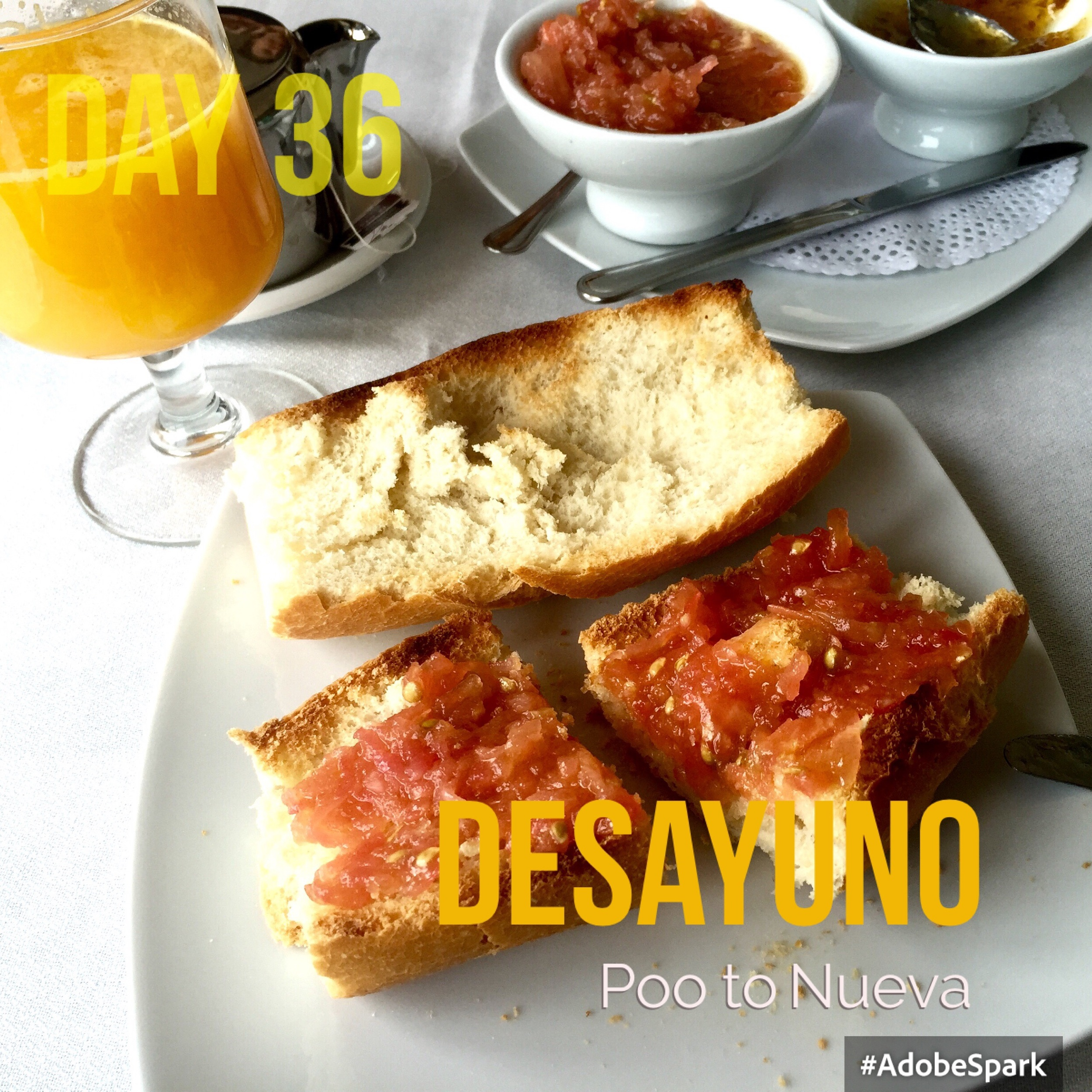 Tomato paste on toast is a favourite here