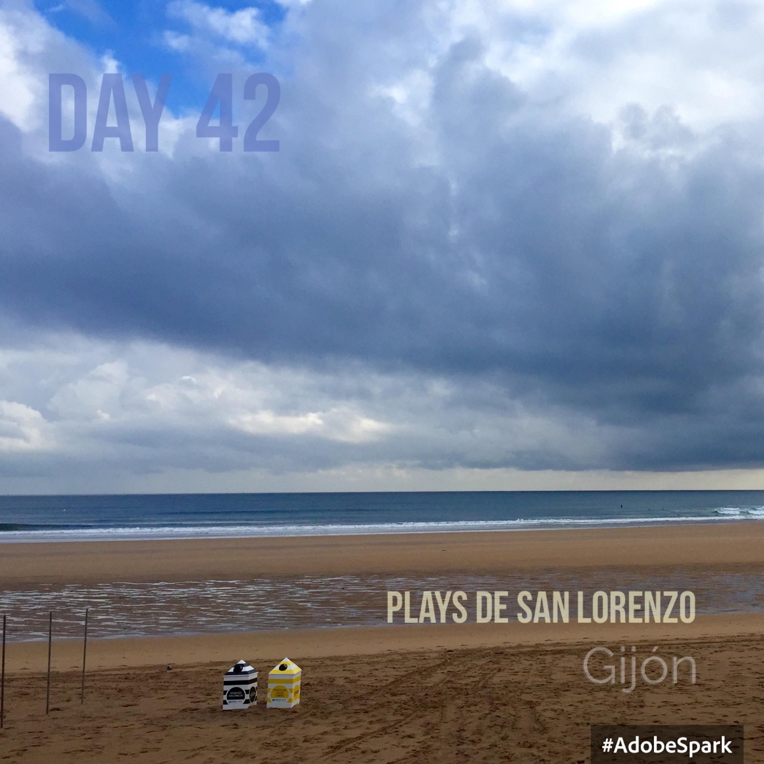 The town beach at Gijón