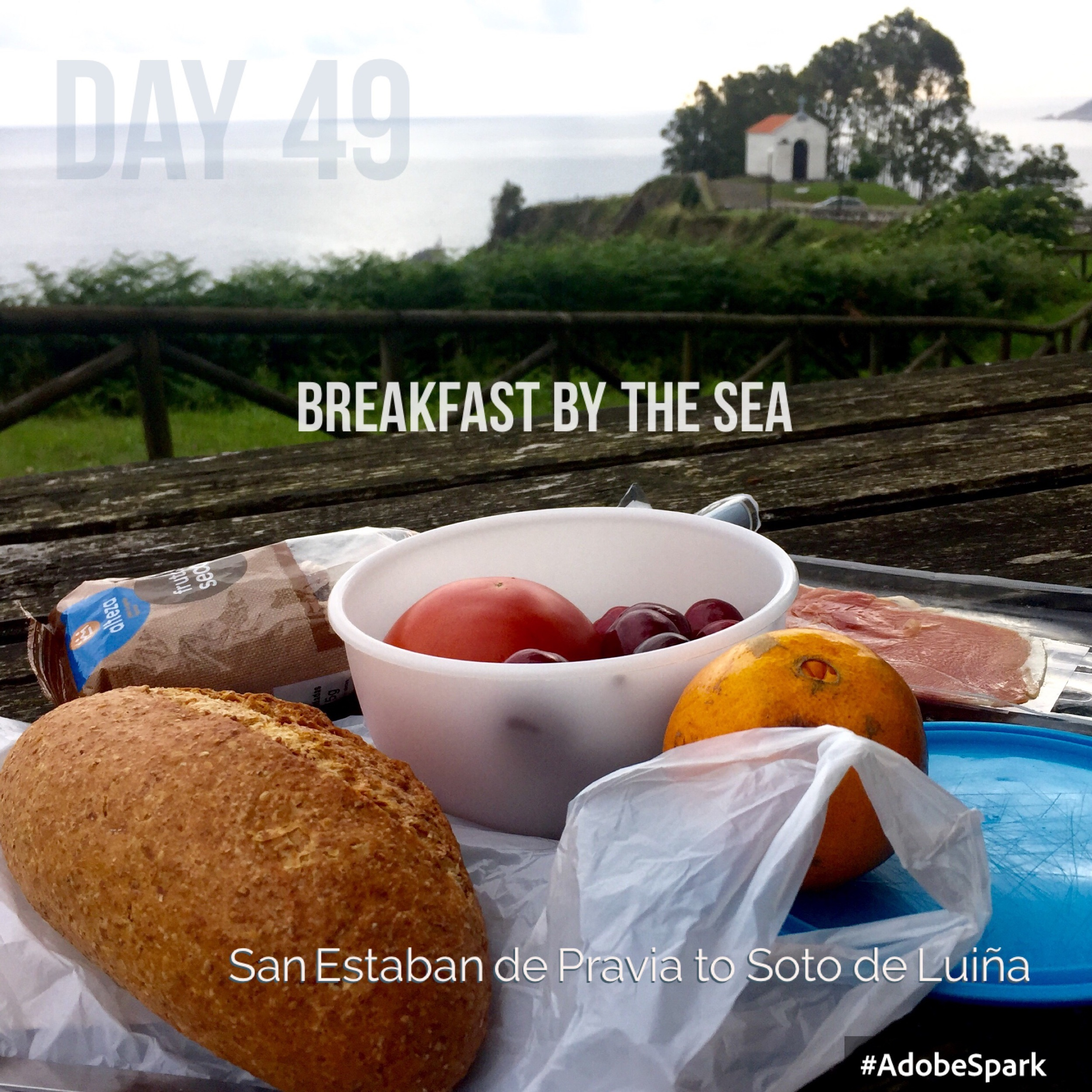 Breakfast surrounded by sea