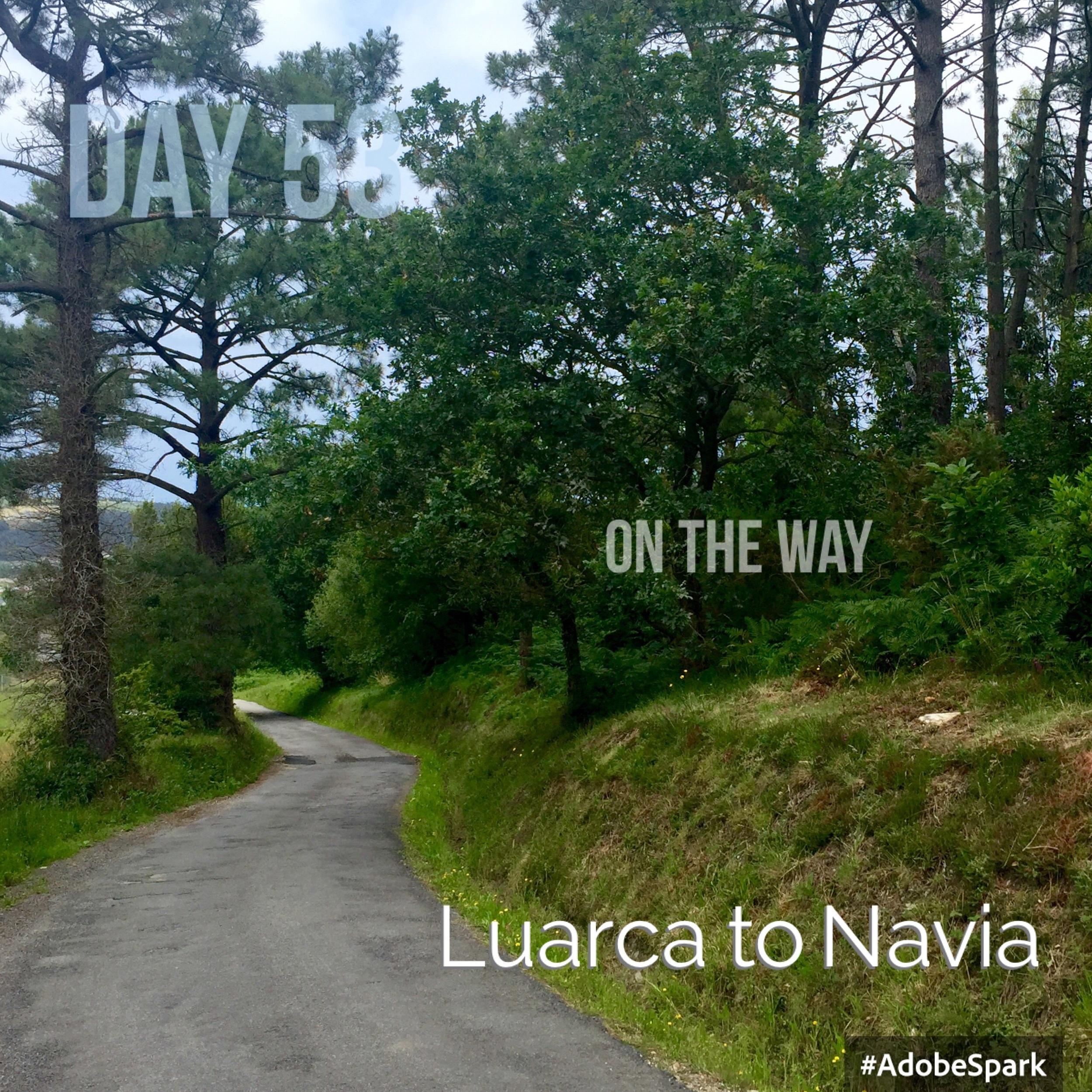 Walking down into Navia
