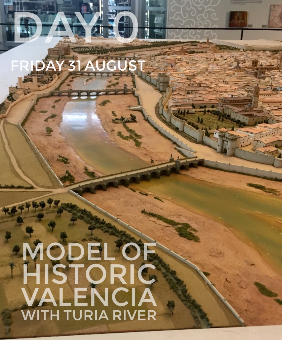 Model of historic Valencia in the MuVIM Gallery.  It shows the Ria Turia and it's magnificent historic bridges.