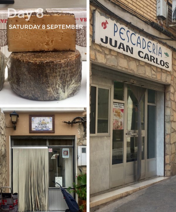 The cheese stall is owned by a Basque (this is definitely a hard cheese),  Horno Panaderia has a wood-fired oven and the fishmonger.