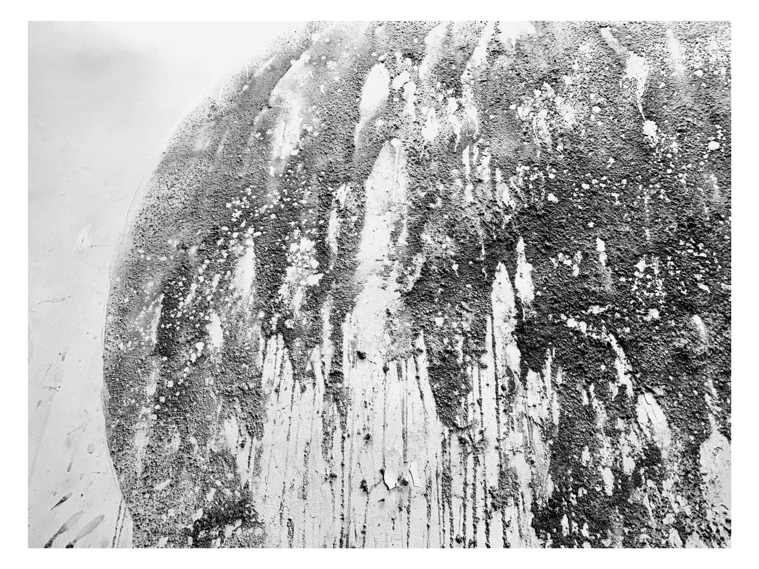 MUNDUS (detail)  (Wood-ash, honey, River Thames water)