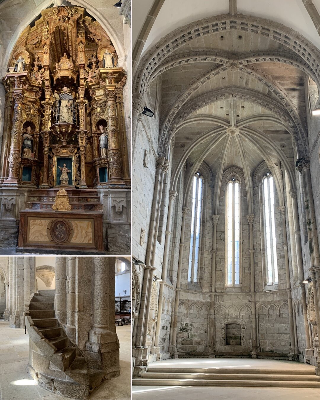 A untouched Romanesque church with one or two later extravagances.